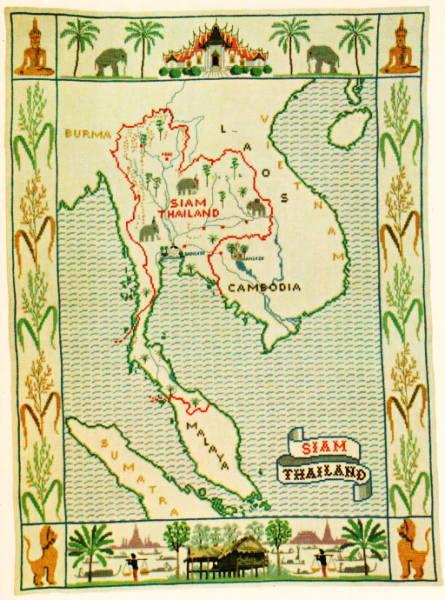 デンマークフレメ クロスステッチ刺繍キット 【シャム地図】 輸入 上級者 北欧 30-2514