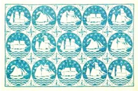 フレメ クロスステッチ刺繍キット 【船とタイル】 デンマーク 北欧 輸入 上級者 30-3949