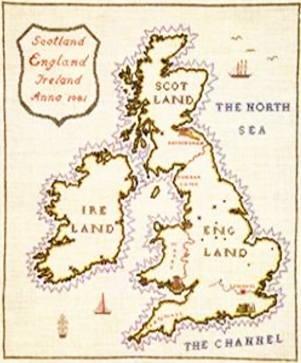 【送料無料】フレメ Englandskort イングランドの地図 10B クロスステッチ Haandarbejdets Fremme キット デンマーク 北欧 刺しゅう ギルド IW 30-4820