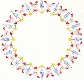 【送料無料】フレメ Nisseguirlande ピクシーガーランド 10B クロスステッチ Haandarbejdets Fremme キット デンマーク 刺しゅう ギルド 北欧 EH 06-6601