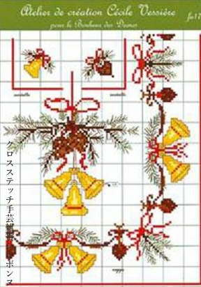 <title>クロスステッチ刺繍 図案 輸入 ルボヌールデダム Le Bonheur des 返品交換不可 Dames クリスマス Christmas Cross Stitch フランス FA17</title>