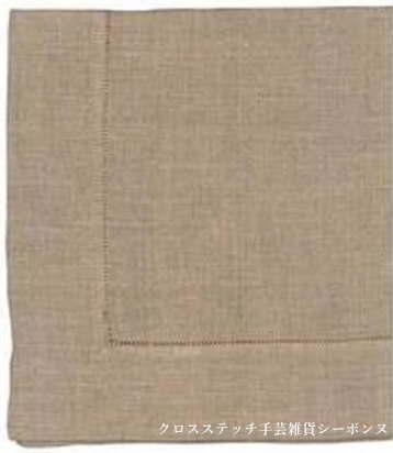クロスステッチ刺繍テーブルクロス 輸入 Le Bonheur des Dames ルボヌールデダム Linen embroidery tablecloth フランス 上級者 NJB120