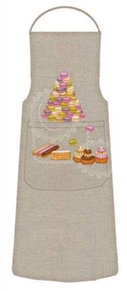 クロスステッチ刺繍キット 輸入 ル・ボヌール・デ・ダム Le Bonheur des Dames 刺しゅう Tablier gourmet グルメエプロン 半製品 フランス 上級者 5086