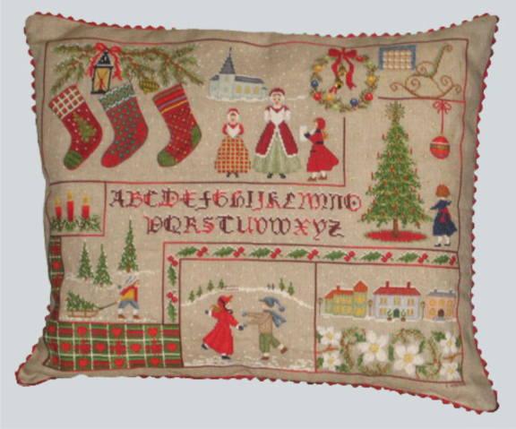 クロスステッチ刺繍キット 輸入 ル・ボヌール・デ・ダム Le Bonheur des Dames 刺しゅう Coussin de Christmas クリスマスクッション 半製品 クリスマス フランス 上級者 5074