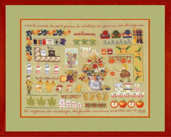 クロスステッチ プチポワン刺繍キット 輸入 ル・ボヌール・デ・ダム Le Bonheur des Dames 刺しゅう Automne 秋 フランス 上級者 1132