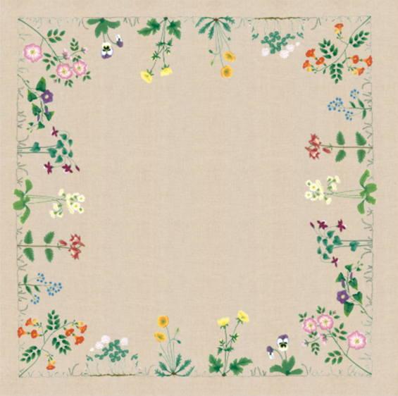 刺繍キット 輸入 ル・ボヌール・デ・ダム Le Bonheur des Dames 刺しゅう Nappe Frise de Fleurs フラワーフリースラントテーブルクロス フランス 上級者 6107