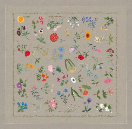 刺繍キット ペイント済み 輸入 ルボヌールデダム Le Bonheur des Dames 刺しゅう Tablecloth to embroider and paint 刺繍とペイントのテーブルクロス 上級者 6104