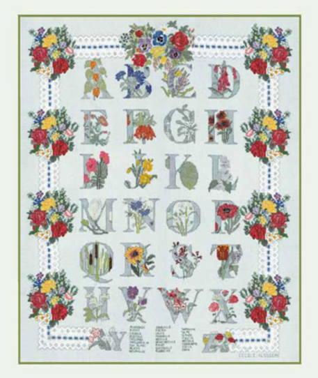 クロスステッチ刺繍キット 輸入 ル・ボヌール・デ・ダム Le Bonheur des Dames 刺しゅう Bouquets 花束 フランス 上級者 2014