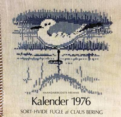 【中古】フレメ 1976 クロスステッチ刺繍図案カレンダー CLAUS BERING 北欧 Haandarbejdets Fremme デンマーク
