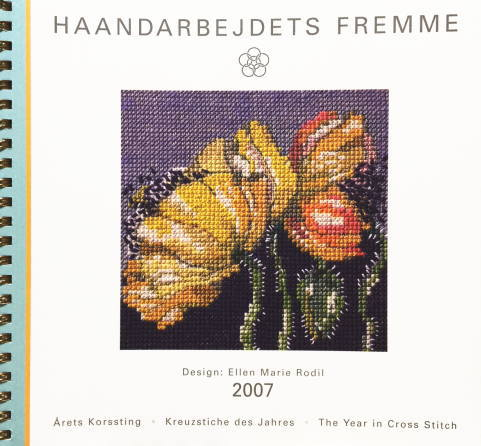 【中古】フレメ 2007 クロスステッチ刺繍図案カレンダー ELLEN MARIE RODIL 図案 Haandarbejdets Fremme デンマーク 北欧