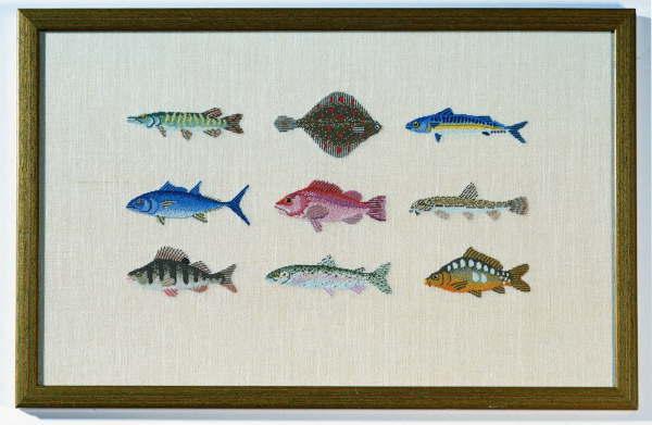 【送料無料】BAHMANN バーマン Fische in Petit Point プチポワンの魚 10B プチポワン キット ドイツ 刺しゅう 30-9007,01