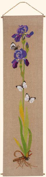 EVA ROSENSTAND クロスステッチ刺繍キット アイリス Iris デンマーク 北欧 エヴァローゼンスタンド 上級者 08-4570