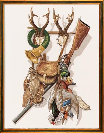 【送料無料】EVA ROSENSTAND 狩猟 Jagt クロスステッチ キット デンマーク 北欧 刺しゅう 12-279