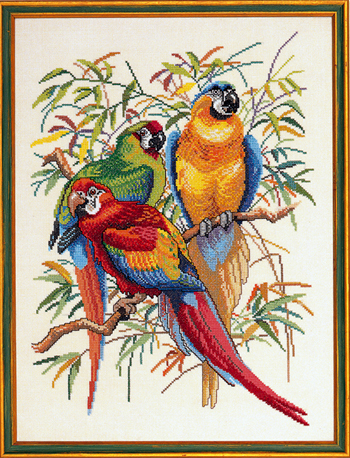 【送料無料】EVA ROSENSTAND オウム Parrots I クロスステッチ キット デンマーク 北欧 刺しゅう 92-292
