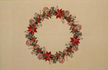【送料無料】EVA ROSENSTAND ポインセチアの赤い果実 Christmas star red berries クロスステッチ キット デンマーク 北欧 刺しゅう 12-4068