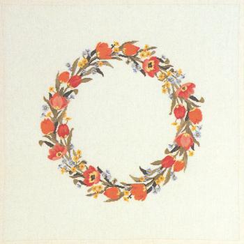 【送料無料】EVA ROSENSTAND チューリップ Tulipaner クロスステッチ キット デンマーク 北欧 刺しゅう 12-4515