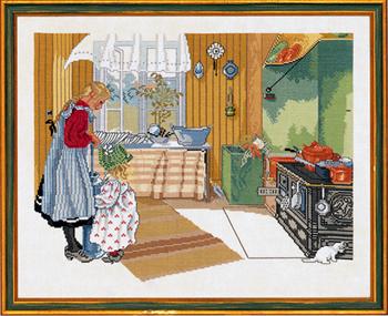 【送料無料】EVA ROSENSTAND キッチン Kitchen クロスステッチ キット デンマーク 北欧 刺しゅう 12-479