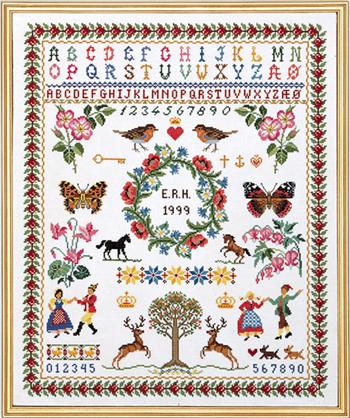 【送料無料】EVA ROSENSTAND / Sampler with berries クロスステッチ キット デンマーク 北欧 刺しゅう 12-539