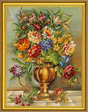 EVA ROSENSTAND クロスステッチ刺繍キット 花瓶の花 Blomstervase 2 デンマーク 北欧 全面刺し 上級者 12-587
