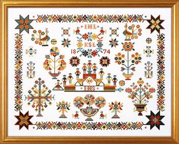 クロスステッチ輸入刺繍キット EVA ROSENSTAND オランダ/サンプラー Hollandsk navnklud デンマーク 北欧 上級者 12-722