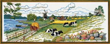クロスステッチ刺繍キット EVA ROSENSTAND デンマーク Danmark dejligst 2 デンマーク 北欧 刺しゅう 上級者 92-724