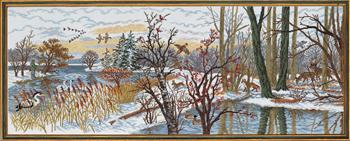 クロスステッチ刺繍キット EVA ROSENSTAND 狩猟と釣り Jagt og fiskeri デンマーク 北欧 刺しゅう 上級者 92-793