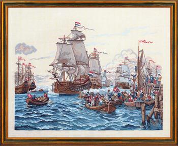 【送料無料】EVA ROSENSTAND 船と人 Skibe og mennesker クロスステッチ キット デンマーク 北欧 刺しゅう 12-794