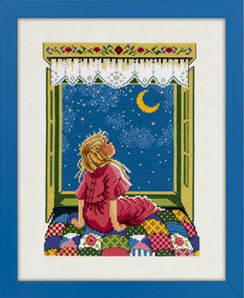 【DM便対応】EVA ROSENSTAND 女の子は星を見て Pige kigger stjerner クロスステッチ キット デンマーク 北欧 刺しゅう 94-142