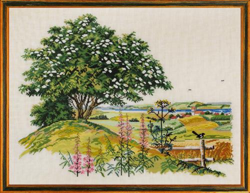 EVA ROSENSTAND クロスステッチ刺繍キット エルダーの木 elder tree デンマーク 北欧 輸入 上級者 14-471