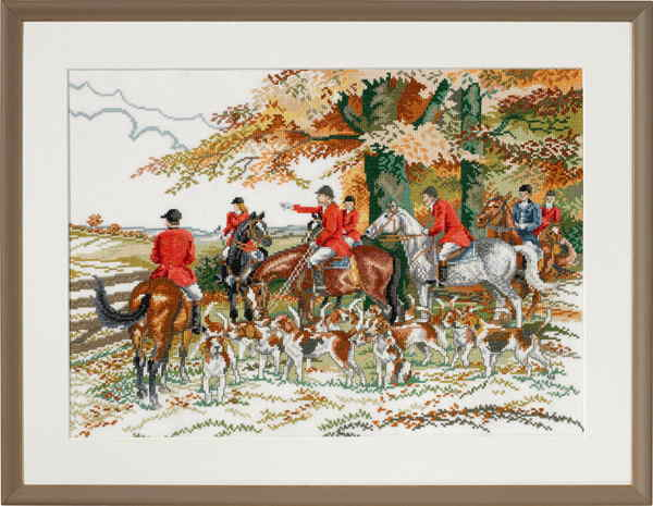 EVA ROSENSTAND クロスステッチ刺繍キット 【犬と狩猟】 デンマーク 北欧 輸入 上級者 72-452