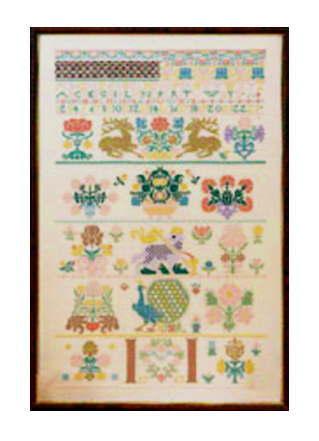 PERMIN / Sampler 1763 ペルミン 刺繍 キット デンマーク 39-6341 【送料無料】