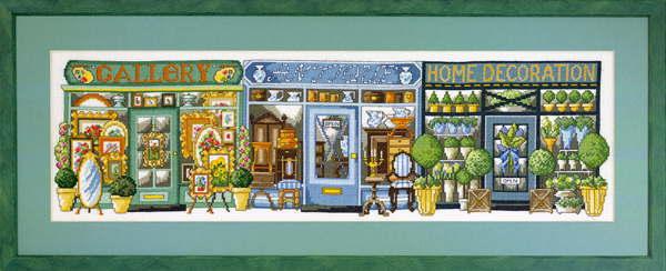 クロスステッチ刺繍キット 輸入 ペルミン Shops ショップ Permin of Copenhagen デンマーク ペルミン 上級者 70-9460