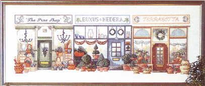 クロスステッチ刺繍キット ペルミン ブティック街 Butikcenter デンマーク Permin of Copenhagen 上級者 70-1430