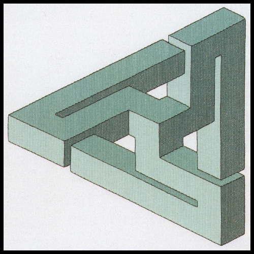 PERMIN 不可能な数字グリーン Impossible figure Green クロスステッチ 刺繍 キット デンマーク ペルミン 70-9406 【DM便対応】