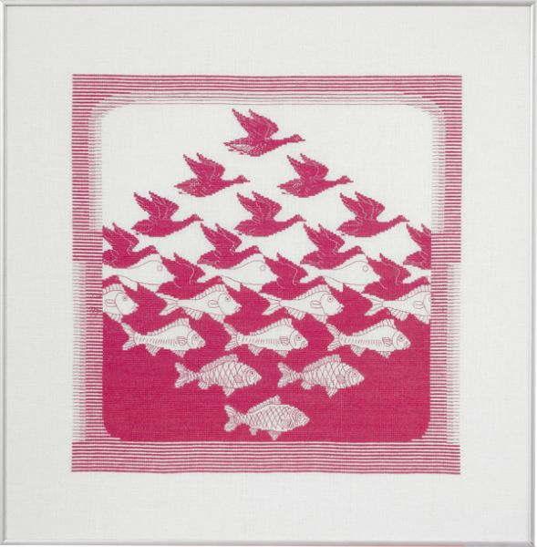 Maurits Cornelis Escher エッシャー 空と水 クロスステッチ刺繍キット ペルミン 輸入 上級者 北欧 デンマーク 70-5344