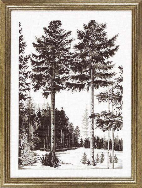 クロスステッチ刺繍キット 輸入 ペルミン Trees graphics ツリーグラフィック Permin of Copenhagen デンマーク 北欧 刺しゅう 上級者 70-3127