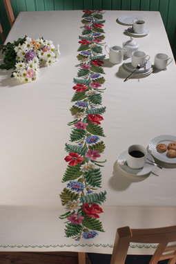 PERMIN パームブレード&花 Palmeblade,blomster クロスステッチ 刺繍 キット デンマーク ペルミン 58-6500 【送料無料】