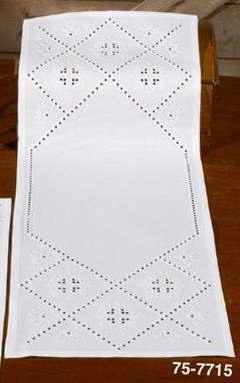 ハーダンガー刺繍完成品 輸入 Permin of Copenhagen テーブルランナー ペルミン Hardanger デンマーク 北欧 刺しゅう 75-7715M