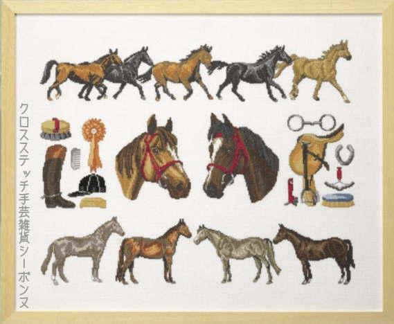 ペルミン クロスステッチ輸入刺繍キット Horsemenage 馬小屋 Permin of Copenhagen デンマーク 70-8490 上級者