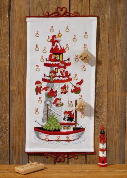 ペルミン クロスステッチ刺しゅうキット 【ニッセのクリスマスアドベントカレンダー】 輸入 上級者 デンマーク 北欧 34-7255