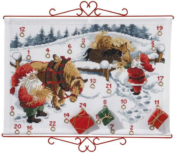 PERMIN 雪の中の馬 Heste i sne ペルミン クロスステッチ キット デンマーク 北欧 刺しゅう 34-2623 【DM便対応】