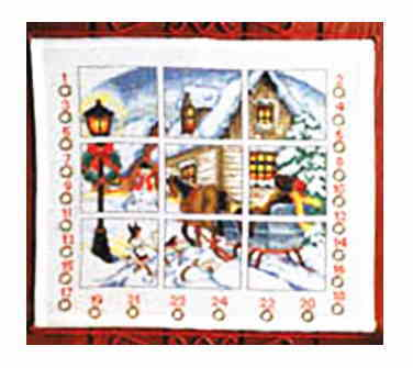 PERMIN クリスマス・ウィンドウ Christmas window ペルミン クロスステッチ キット デンマーク 北欧 刺しゅう 34-3210 【送料無料】