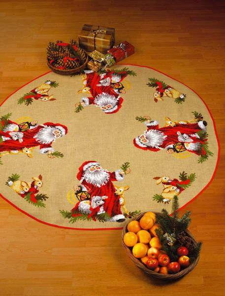 PERMIN サンタクロースと動物 Santa's animals クロスステッチ 刺繍 キット デンマーク 北欧 刺しゅう ペルミン 45-3255 【送料無料】