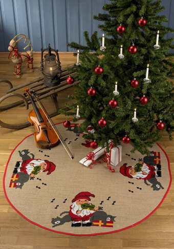 PERMIN ニッセとバイオリン Nisse m/violin クロスステッチ 刺繍 キット デンマーク 北欧 刺しゅう ペルミン 45-9240 【送料無料】