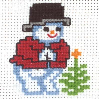 <title>PERMIN 5%OFF ペルミン クロスステッチ刺しゅうキット 雪だるまとクリスマスツリー デンマーク 北欧 輸入 初心者 14-0202</title>