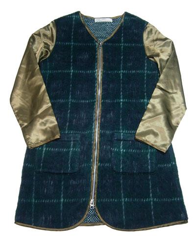 【半額】チェックシャギーコート(140cm)