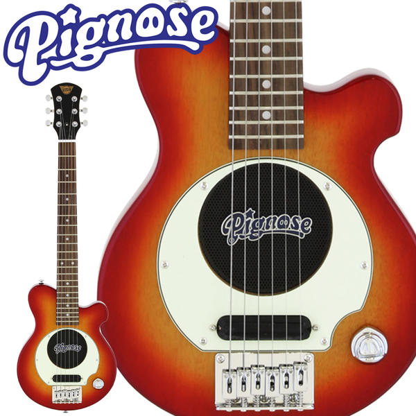 Pignose 《ピグノーズ》 PGG-200 (Cherry Sunburst) 【スピーカー内蔵ミニギター】