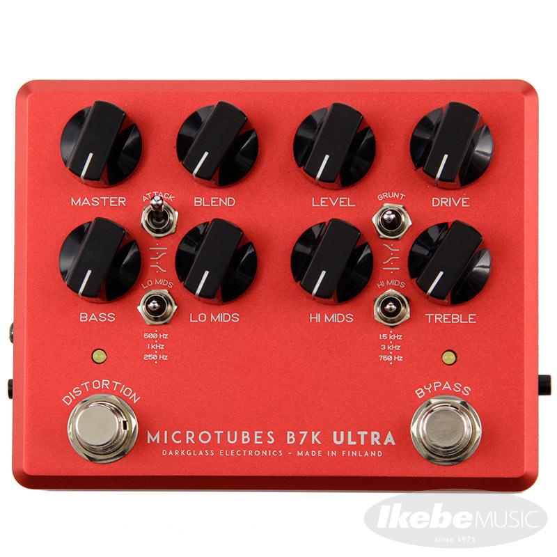 """ベースプリアンプ Darkglass Electronics 《ダークグラス》 Microtubes 無料 購買 B7K Ultra v2 Aux edition """"Crimson with Red"""" イケベオリジナルカラー Limited In"""