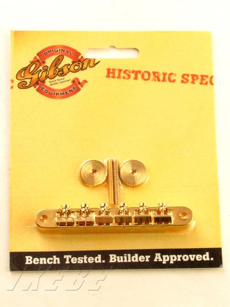 Gibson PBBR-065 Historic Spec NON-WIRE TUNE-O-MATIC BRIDGE-GOLD