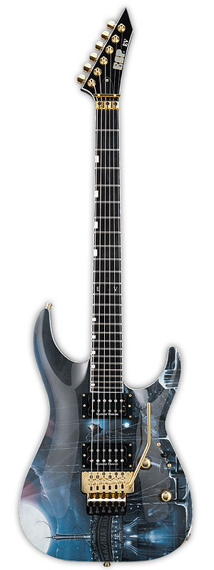 ESP EV-III IMAGINAERUM (See Thru Purple w/Imaginaerum Graphic) [Emppu Vuorinen Model] 【受注生産品】
